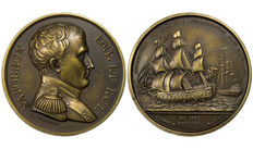 France - Coin 'Napoleon 100 Days - Naval Battle featuring the Bellerophon'.
