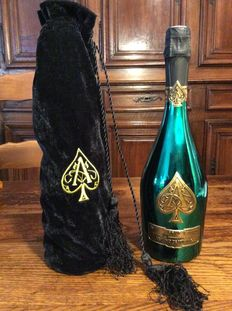 2015 Armand de Brignac Ace of Spades 'Limited Green Edition' Masters Bottle in its velvet bag – 1 bottle