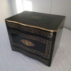 "Napoleon III ""Boulle"" marquetry liquor cellar in blackened wood - France - circa 1870"