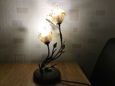 Two branch table lights as a 'floral display'
