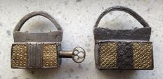 Iron and bronze padlocks-Italy-16th century