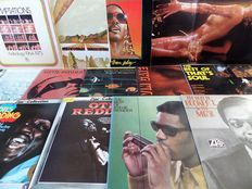 Otis Redding, Booker T., Stevie Wonder, Temptations. Lot of thirteen fabulous soul records from the sixties and seventies.