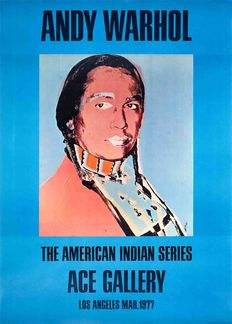 Andy Warhol - American Indian (Blue)