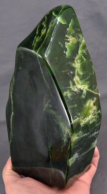 Large highly polished green Nephrite tumble - 212 x 102 x 80mm - 3530gm