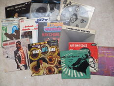 JAZZ - Various artists - lot of twelve (12)  LP's from the fifties up to the seventies