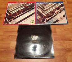 The Beatles 3 LP Lot - The Red And Blue Album 1962-1966 & 1967-1970 + The Beatles Tapes