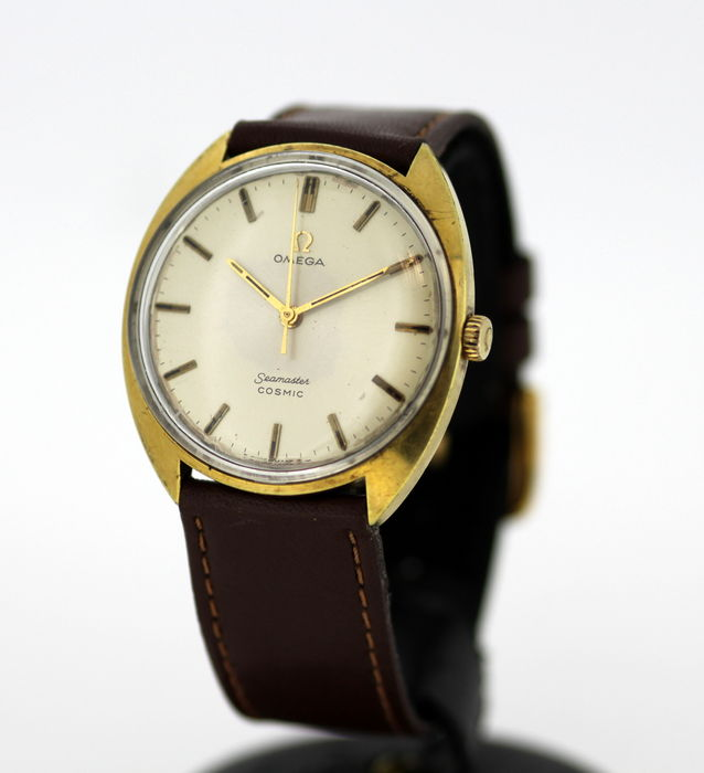 Omega Seamaster Cosmic Men S Vintage Gold Plated Manual Winding