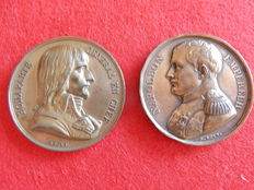 Two Napoleon I medals - pyramids and memorial of St. Helena