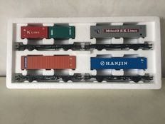 Märklin H0 - 4515 - 4-piece container car set with various containers