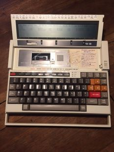 Epson PX-8 portable computer with LCD screen, from 1984