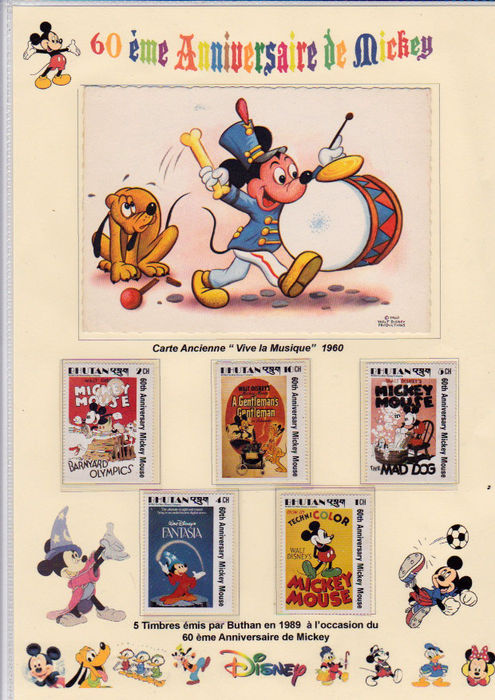 France And Various Countries Disney Mickey Theme 48 Panels Of