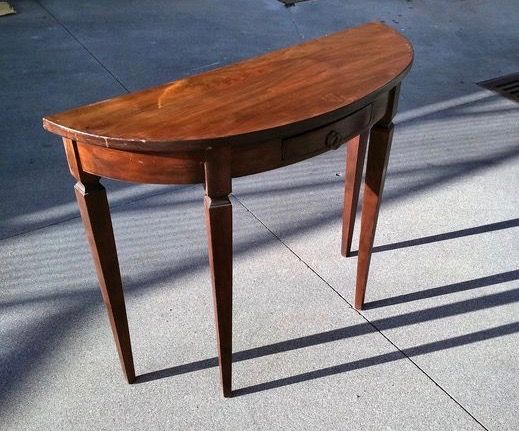 Wooden console table - late 20th century