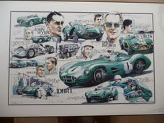 A poster to Commemorate Aston Martin's 1959 World Sports Car Championship