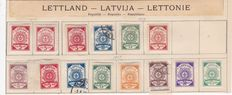 Latvia 1918/23 and Ukraine 1919/21 - a small collection on old album pages