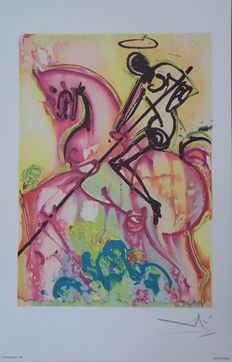 Salvador Dali (after) - Saint Georges et le Dragon