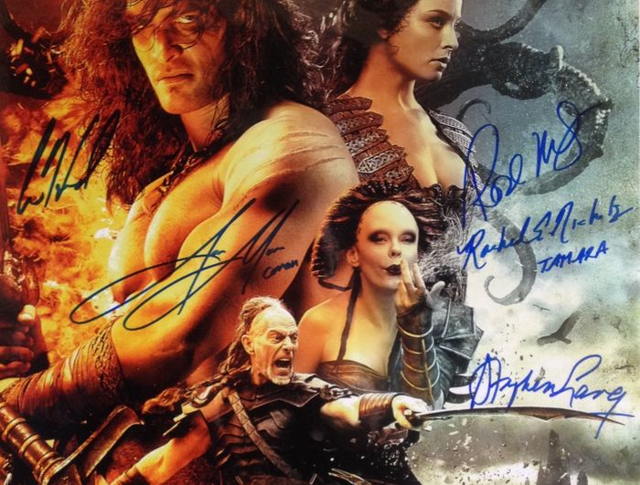 conan the barbarian 3d authentic cast signed poster by 5