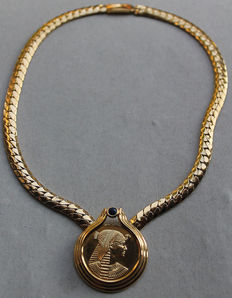 """Necklace """"Queen Kleopatra"""" - 24 k gold plated"""