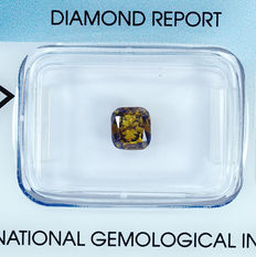 Diamant - 1.00 ct natural Fancy Deep Brownish Yellow VS2