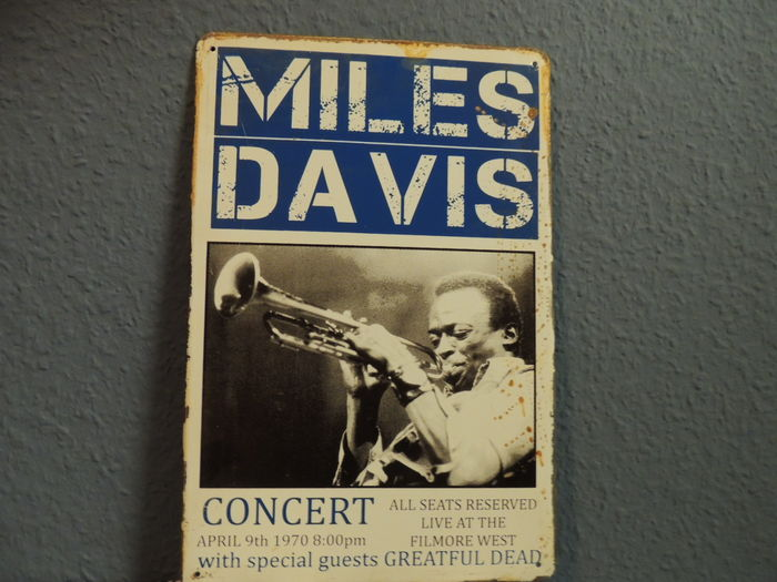 Miles Davis - Concert  - April 9th 1970 - Big Metal Memorial Sign