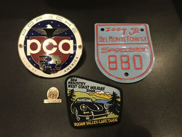 Lot of 4 Porsche american badges