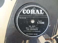 21 x Rock & Roll and Popmusic from the 1950s on 78 RPM Records.
