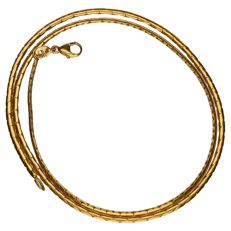 Yellow gold link necklace in 14 kt - 42 cm