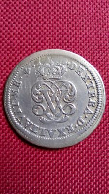 Spain – Felipe V – Two reales silver coin – 1708 – Segovia.