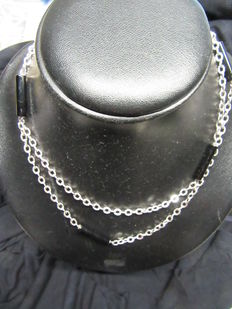 Vintage silver/onyx necklace