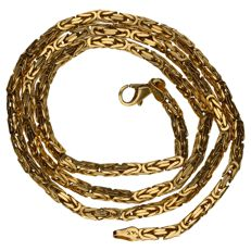 14 kt yellow gold king's link necklace - 50 cm