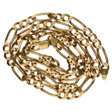 Yellow gold 14 kt, Figaro link necklace.