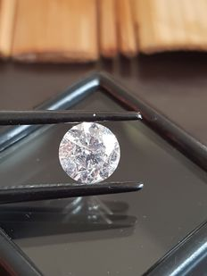 Diamond - 1.35 ct - G Color SI3 - Round Brilliant - VG/VG/G