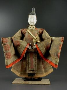 Large, Samurai Musha Ningyo puppet (49 cm) - Japan - 19th century (late Edo era).