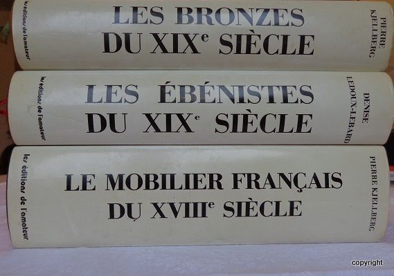 3 dictionaries of bronze-smelters and French cabinetmakers of the XVIII and XIX century