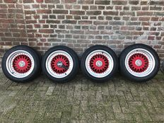 "Porsche BBS wheel set 16"" - rims and tyres - 205/55-16 & 255/45-16"