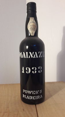 1933 Powers Malvazia/ Malmsey Madeira - 1 Bottle