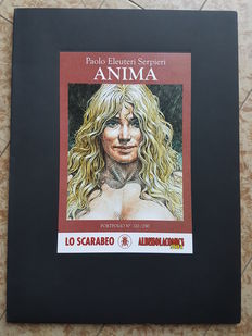 "Serpieri, Paolo Eleuteri - portfolio ""Anima zero"", with 8x lithographs"