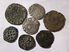 Spanish Empire - Fabulous lot of Spanish coins. 7 reigns in the history of Spain.