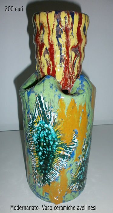 Pair Of Hand Painted Vases 50s60s Collecting Modern Art Catawiki