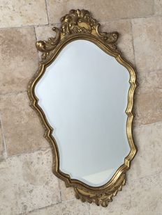 A gilded mirror in Louis XV style, 20th century