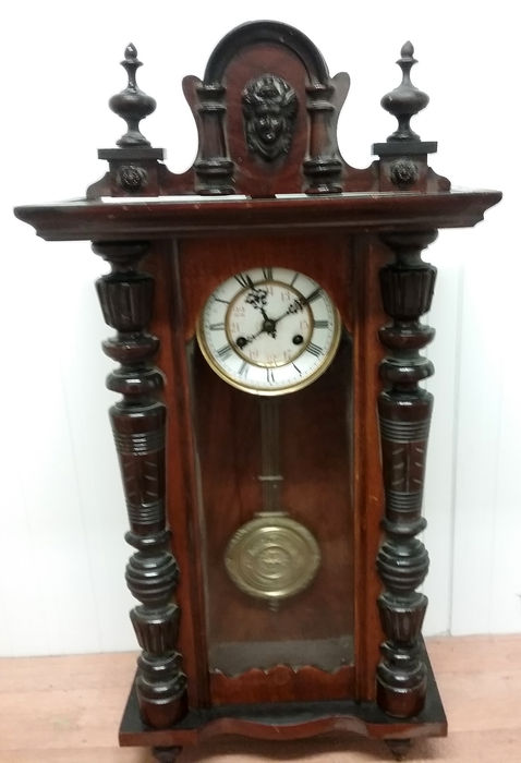 Chiming wall clock - Late 19th-Early 20th - Dark oak