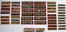 47 magic lantern plates and 2 boxes