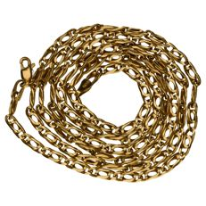 14 kt yellow gold figaro link necklace
