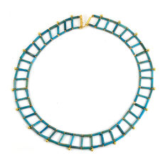 An Egyptian Faience Necklace- 46 cm