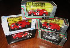 """Box Model - Scala 1/43 - Lot with 5 models: 5 x Ferrari 250 Le Mans Competition - three are """"specials-Code 3"""""""