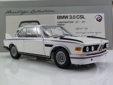 Minichamps - Schaal 1/18 - BMW 3.0 CSL Coupe, Wit 1975 BMW Heritage Collection
