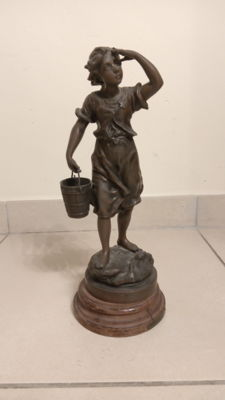 bronze statue by Charles Anfrie, XX century