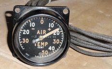 Pre war buitentemperatuur meter