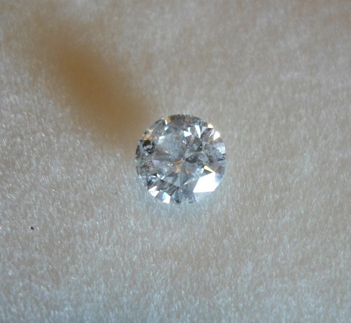 Natural diamond - 0.74 ct - Colour: white D I1 - Clarity: enhanced