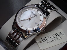 Bulova lady luxury 12 Genuine diamond watch