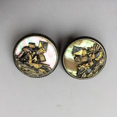 Shakudo Cufflinks - Japan - First Half of 20th Century.